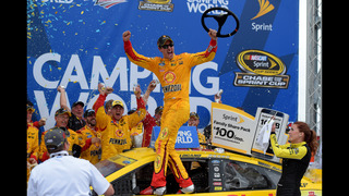 Joey Logano wins Talladega with...