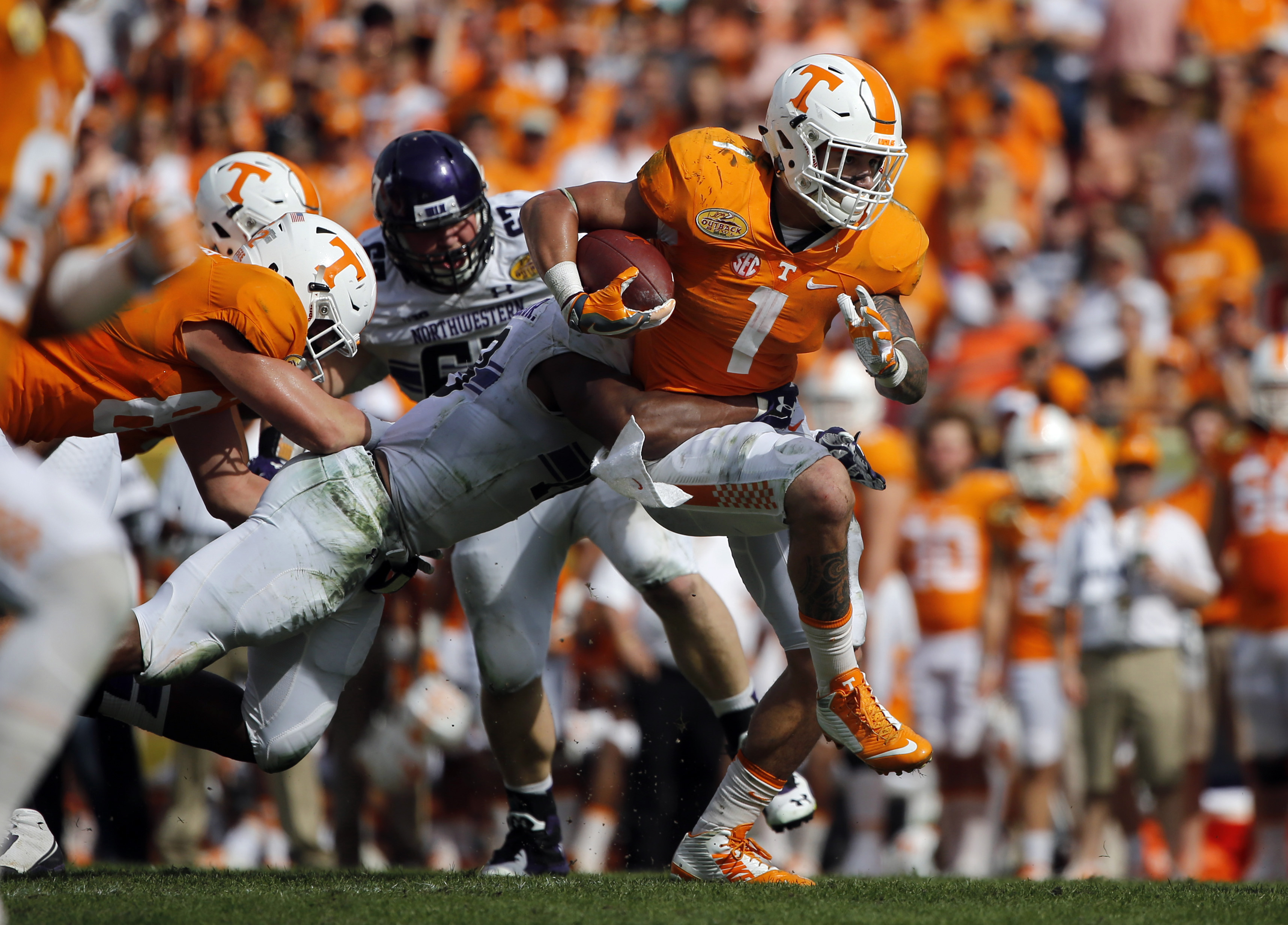 wbir.com | Tennessee beats Northwestern 45-6 in Outback ...