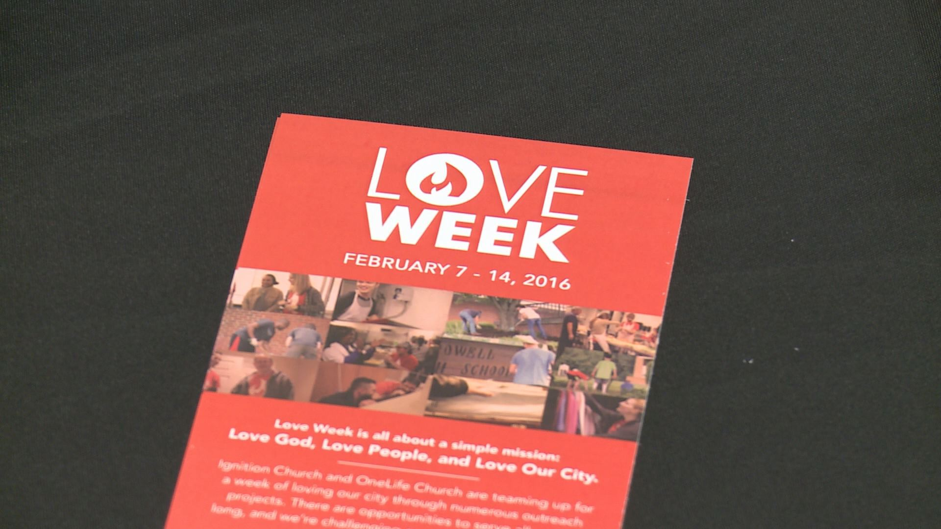 Two churches team up to spread love...
