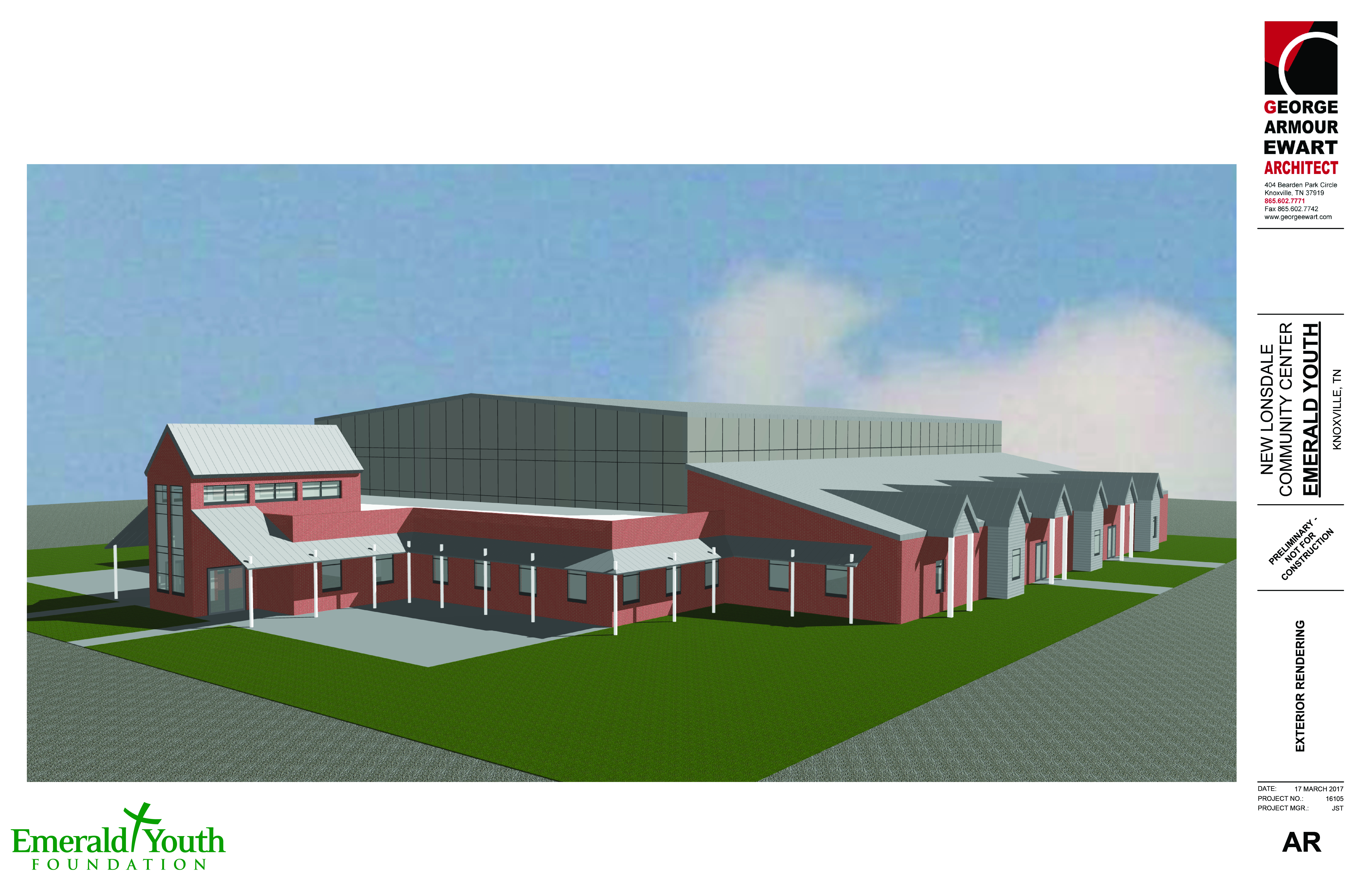 Building 92 microsoft store - Rendering Courtesy Emerald Youth Foundation