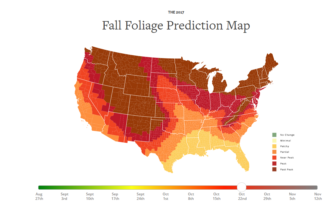 Wbircom Fall Colors Update Warm Weather Pushes Peak Back But - Appalachian mountains on us map