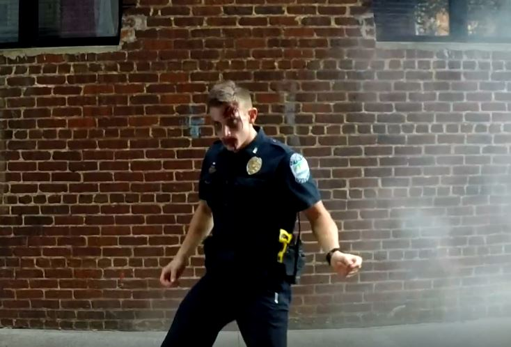 Officers, firefighters dance to Thriller for kids with allergies