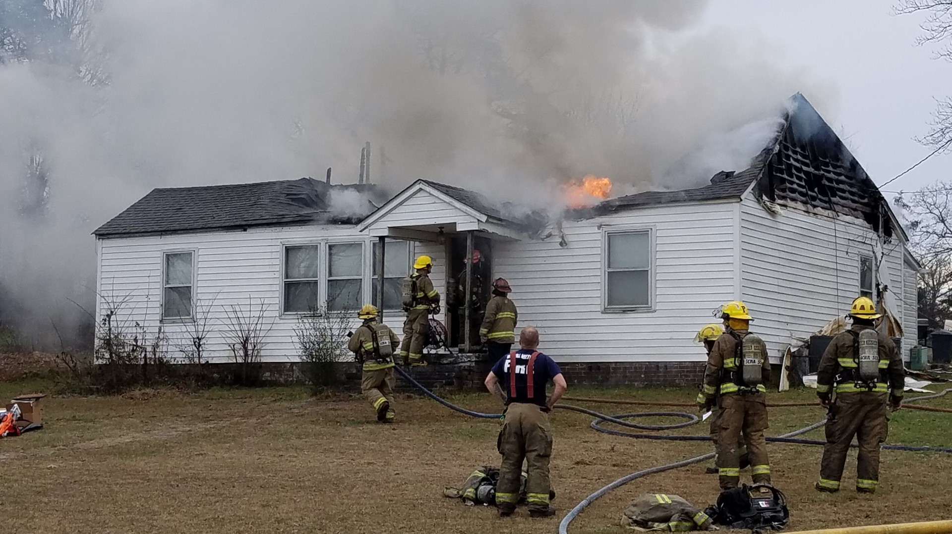 Albemarle Fire Crews Respond to Morning House Fire